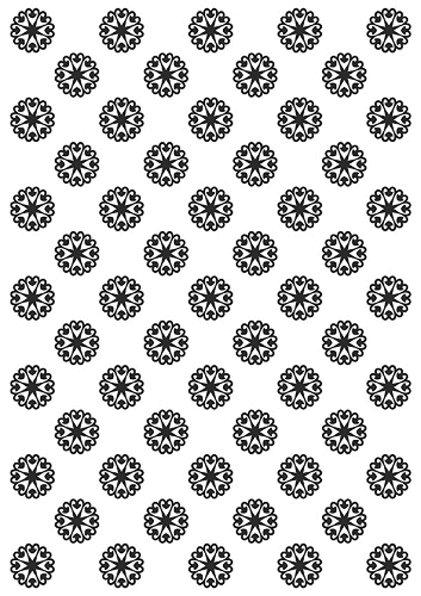 Schneeflocken - DIN A4 - Prägeschablone / Embossing Folder
