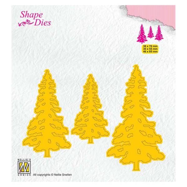 Kiefern / Pinetrees - Stanzschablone