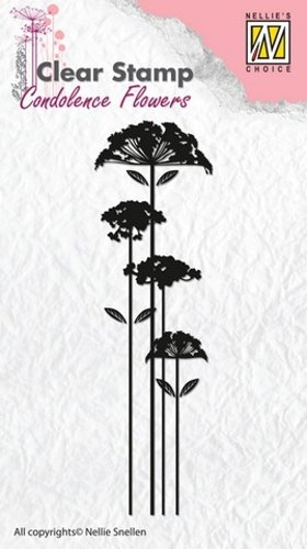 Kondolenz - Blumen No.2 - Stempel - Clearstamp