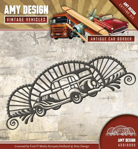 Antique car border - Vintage Vehicle - Stanzschablone