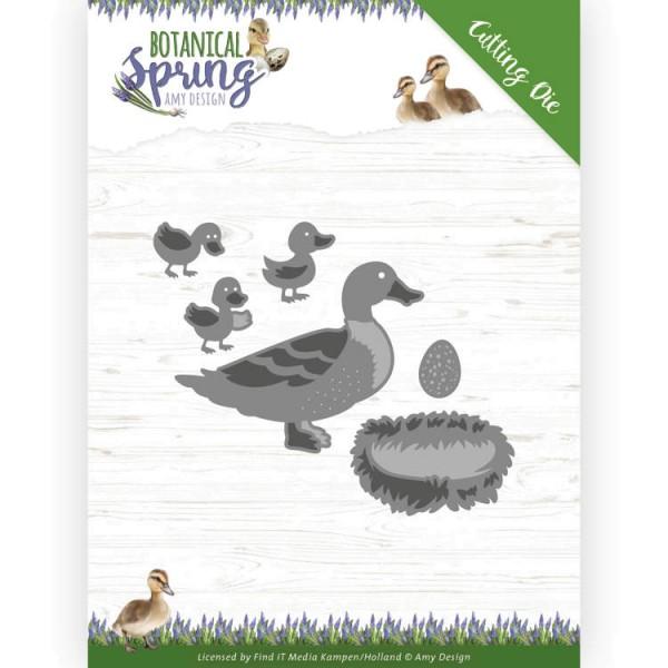 Some Ducks / Entenfamilie - Stanzschablone
