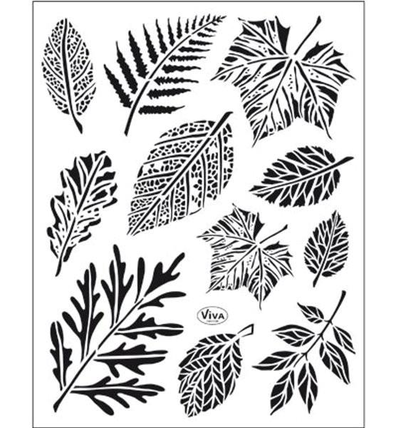 Blätter / Laub - Stempel - Clearstamp