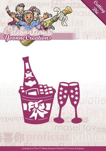 Champagner - Stanzschablone
