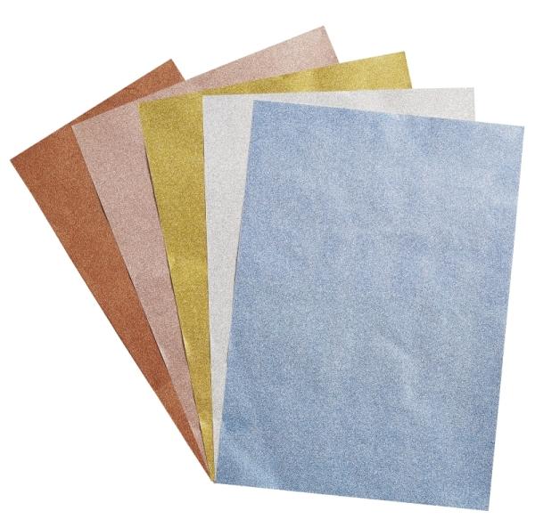 GlitterFun - selbstklebendes Glitzerpapier SET - DIN A4