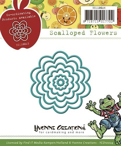 Blütenblätter / Scallop in 6 größen - Stanzschablone
