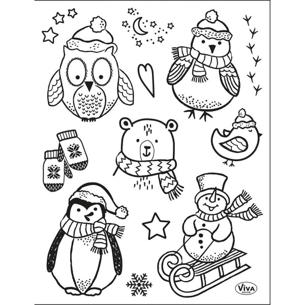 Little Winter Friends - Stempel / Clearstamp