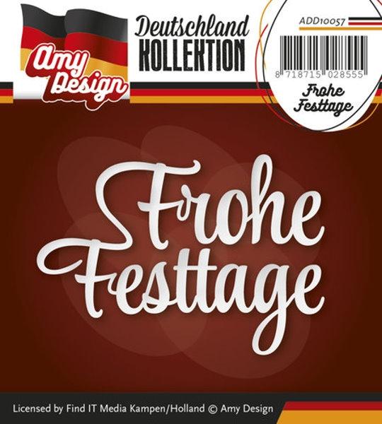 Frohe Festtage - Textschablone