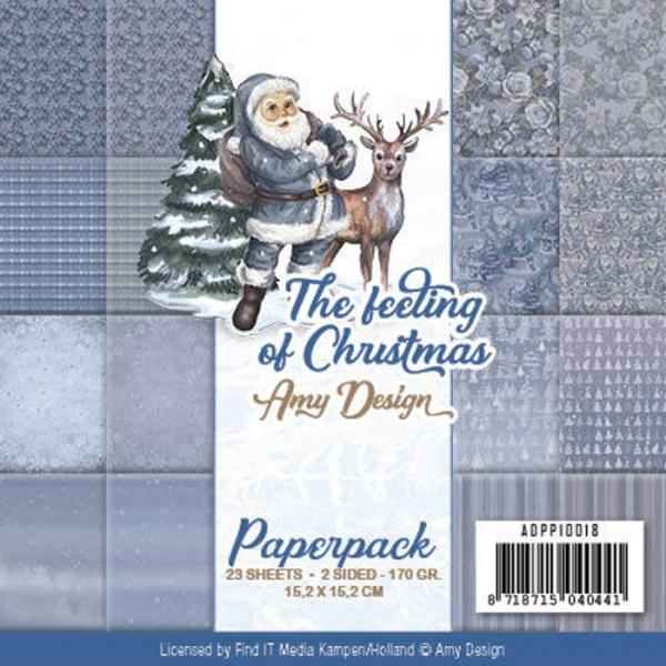 The feeling of Christmas - Motivpapier-Set / Scrapbook