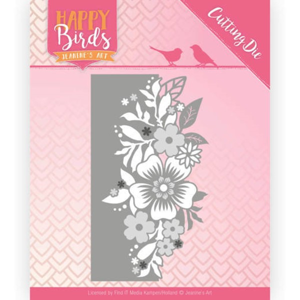 Blumenrand - Happy Birds Collection - Stanzschablone