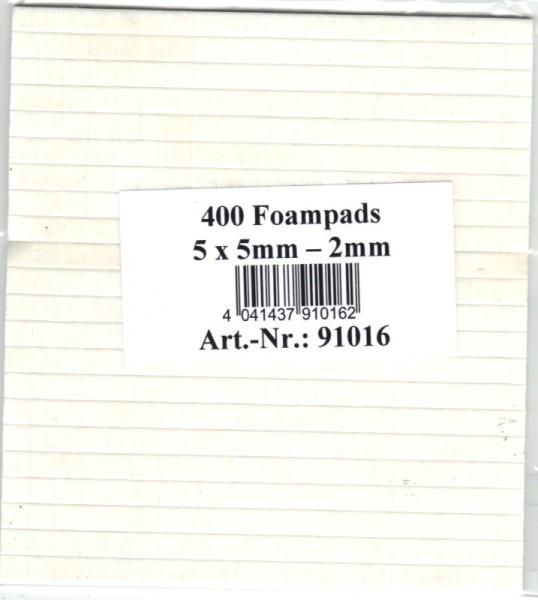 Foampads / Klebepads - 5x5x2 mm - selbstklebend, weiß