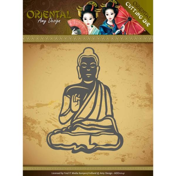 Meditating Buddhist - Oriental - Stanzschablone