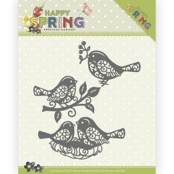 Sping Birds / kleine Vögel - Stanzschablone