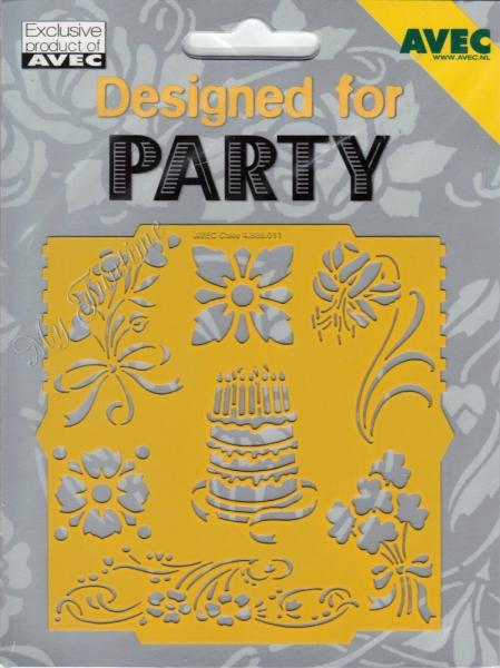 Designed for Party - No. 11 - Prägeschablone / Embossing-Folder