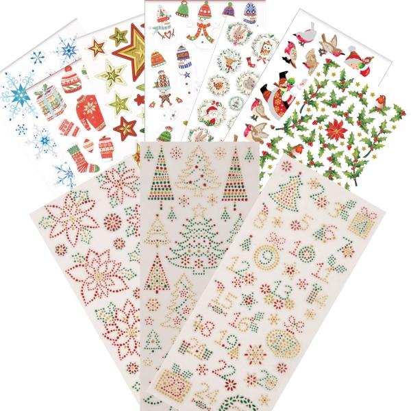 """PAPERMANIA Sticker Set 2 - """"Weihnachten / Xmas"""" - 10 Blatt 22x10cm"""