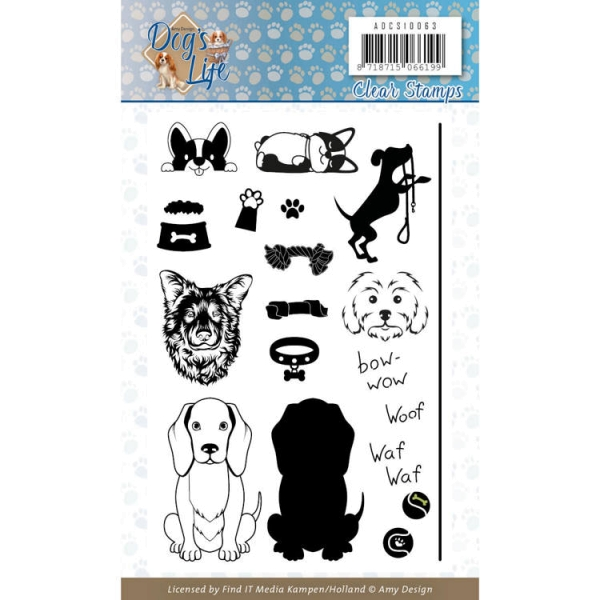 Dog´s Life - Clearstamp / Stempel