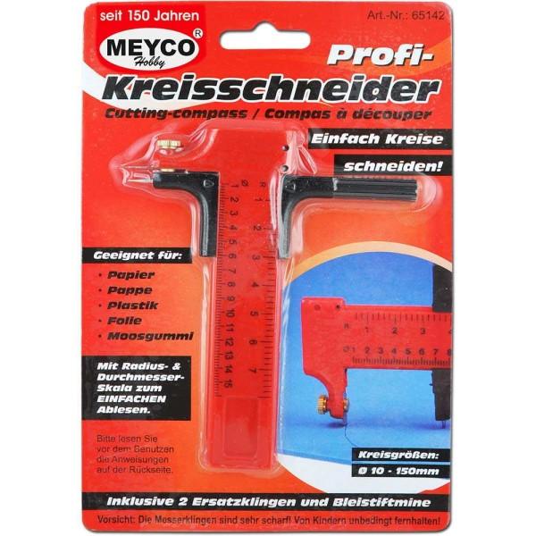 Zirkelmesser / Kreisschneider mit Klinge 1 Mine + 2 Ersatzklingen von Meyco (65142)