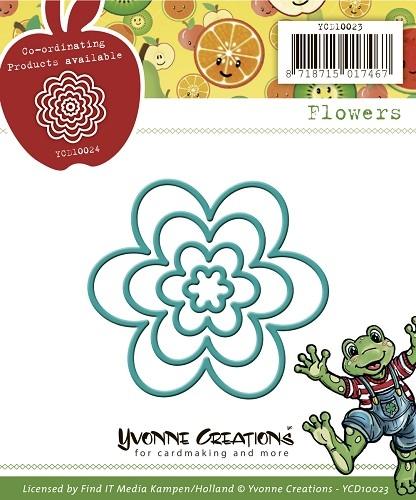 Blüten / Blumen in 4 größen - Stanzschablone