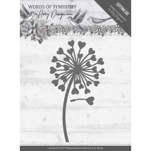 Sympathy Flower - Stanzschablone