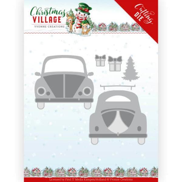 Christmas Car / Auto - Christmas Village - Stanzschablone