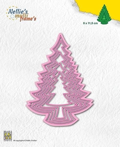 Christmas tree-3 / Weihnachtsbäume - Stanzschablonen