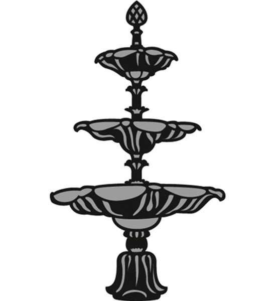 Fontain / Springbrunnen - Stanzschablone