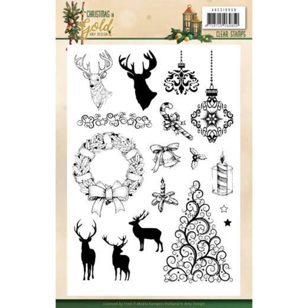 Christmas in Gold - Clearstamp / Stempel