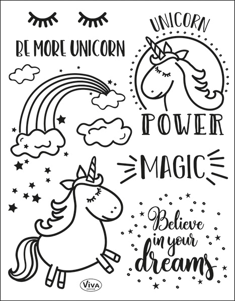 Unicorn Power - Stempel - Clearstamp