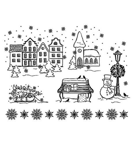 Weihnachtsstadt - Stempel / Clearstamp