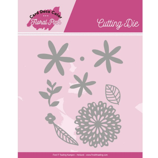 Floral Pink Flowers - Stanzschablone