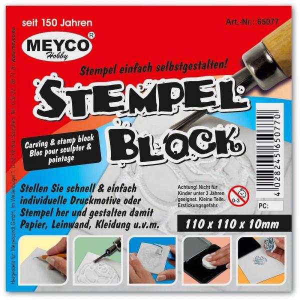 Stempelblock zum Schnitzen 10 x 10 x 1 cm von Meyco Hobby (65077)