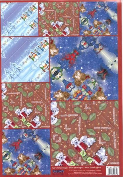 Mini-Umschläge Weihnachten 1 - 8er-Set