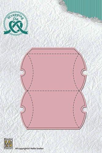 kleine Pillow Box - Stanzschablone