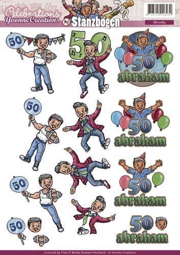 Celebrations - Jubiläum für Ihn - 3D - Stanzbogen