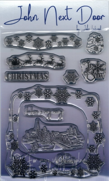 Christmas Scene - Clear Stamp