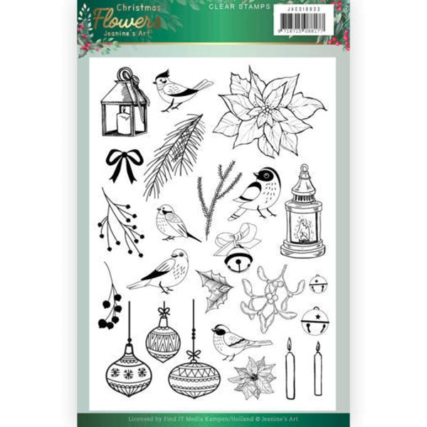 Christmas Flowers - Clearstamp / Stempel