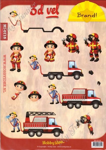 3D-Schneidebogen - Feuerwehrautos