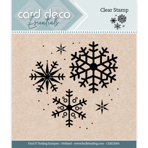 Snowflake / Schneeflocken - Clearstamp / Stempel von Card Deco Essentials (CDECS065)