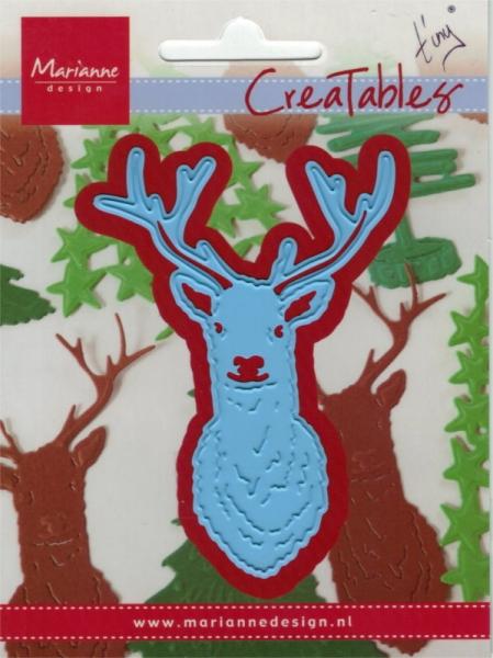 Tiny´s Deer Head / Rehkopf - Stanzschablone