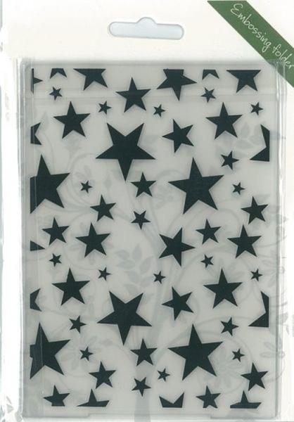 Sterne / Stars - Prägeschablone / Embossing Folder
