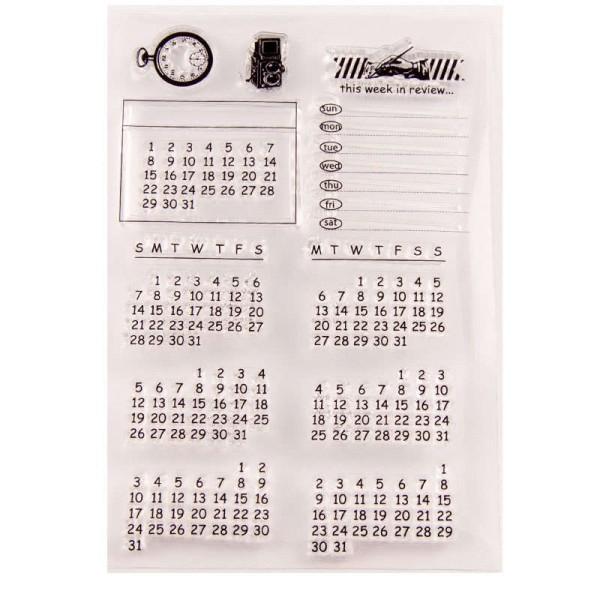 Kalender / Bullet Journal - Clear Stamp / Stempelplatte