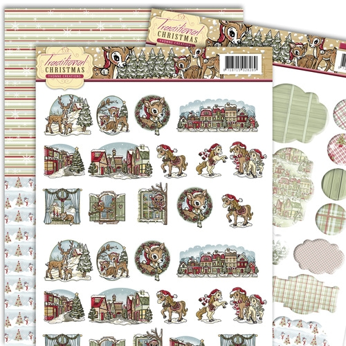Minis & Labels - Traditional Christmas 3D - Stanzbogen - SET