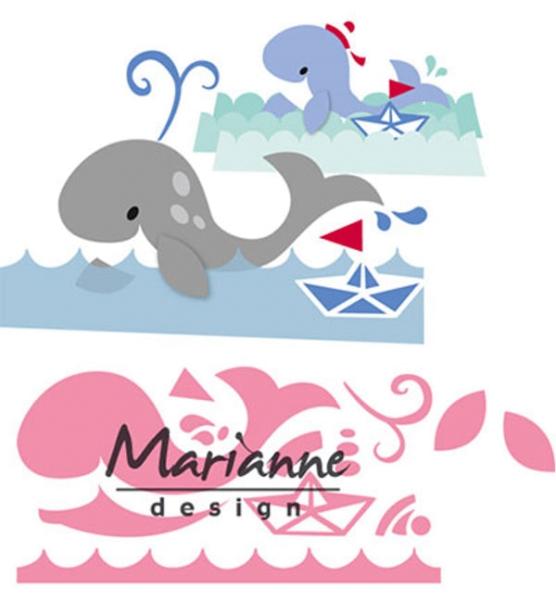 Walfisch - Stanzschablone von Marianne Design
