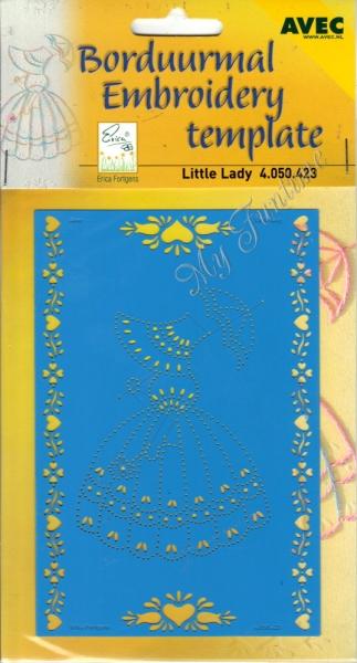 Little Lady - Prägeschablone / Embossing-Folder