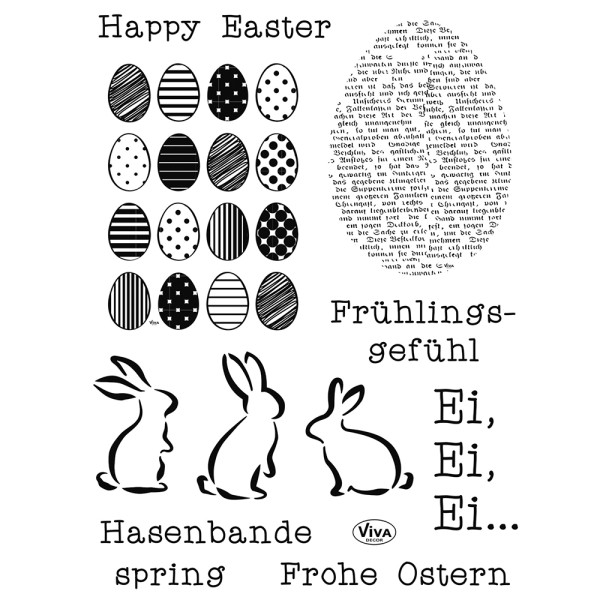 Frohe Ostern - Stempel - Clearstamp
