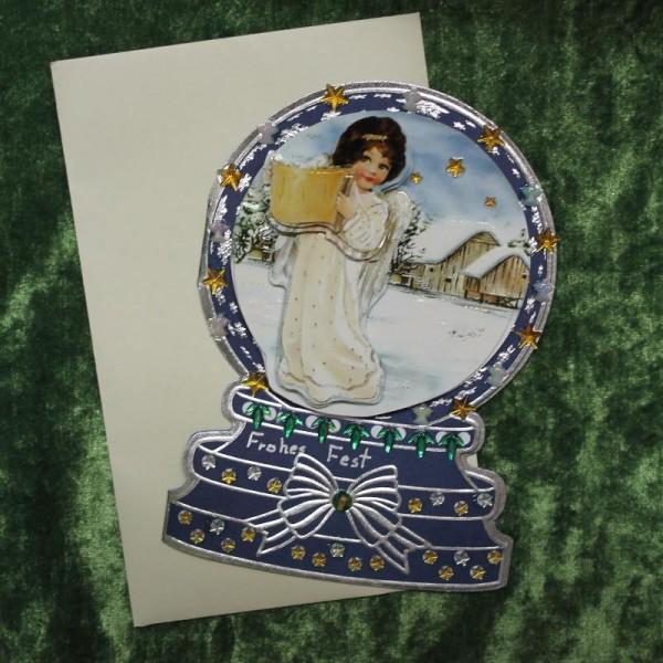 Grusskarte zum Weihnachtsfest - Schneekugel