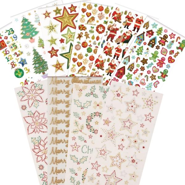 """PAPERMANIA Sticker Set 6 - """"Weihnachten / Xmas"""" - 10 Blatt 22x10cm"""