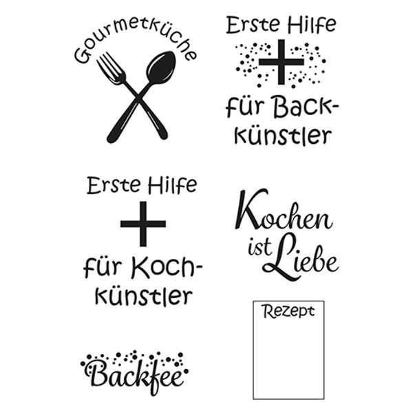Kochkünstler - Stempel / Clearstamp