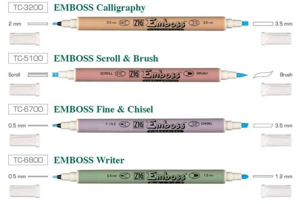 Emboss Pen - Set 4-tlg.