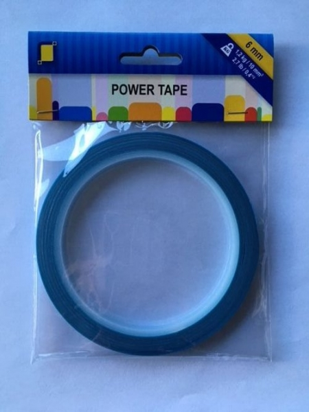 Power Tape - 6 mm x 10 m Doppelseitiges, Ultrastarkes Klebeband