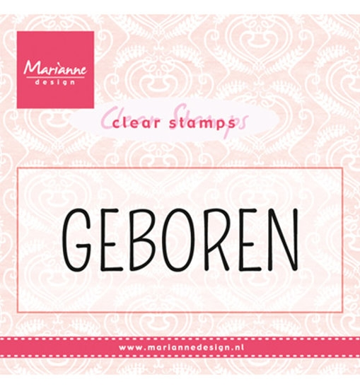 "Textstempel: ""Geboren"" - Stempel - Clearstamp"